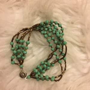 Lucky brand copper color  and turquoise bracelet